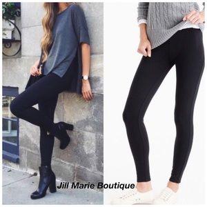 Black fleece lined leggings M/L NWT